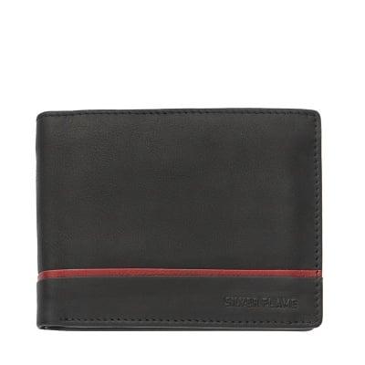 Мъжки портфейл SILVER FLAME колекция - Червена линия