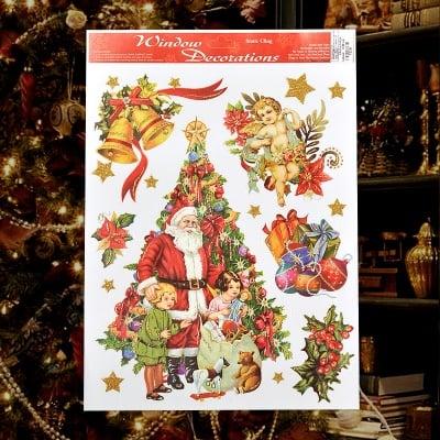 Стикер Дядо Коледа с деца