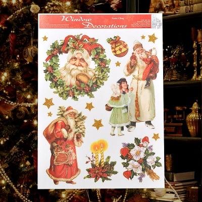 Стикер Дядо Коледа с елха