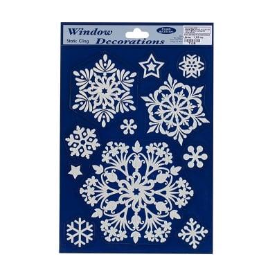 Стикер снежинки сини