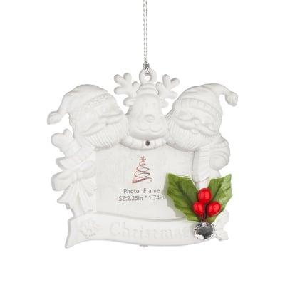 Коледна играчка снежни човеци с място за надпис