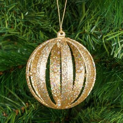 Коледна топка златна