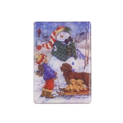 Коледен магнит Дете с кученца