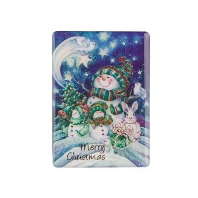 Коледен магнит Снежни човечета