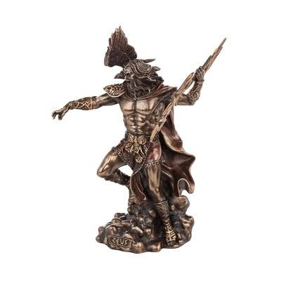 Статуетка Зевс - богът на небето, гръмотевиците и светкавиците