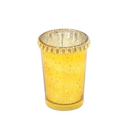 Свещник злато 8.5 см.