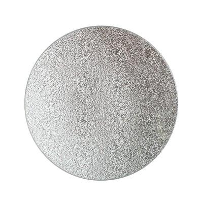 Подложка за свещ сребро 15см