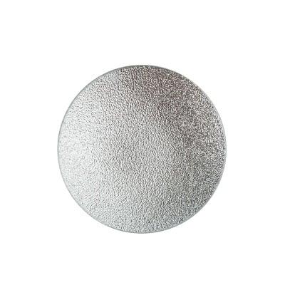 Подложка за свещ сребро 12см