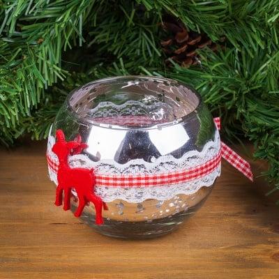 Коледен свещник с еленче