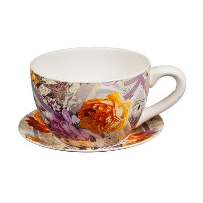 Саксия чаша цветя