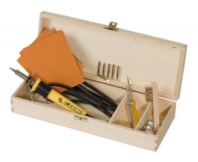 Комплект за пирографиране в дървена кутия, 14 части