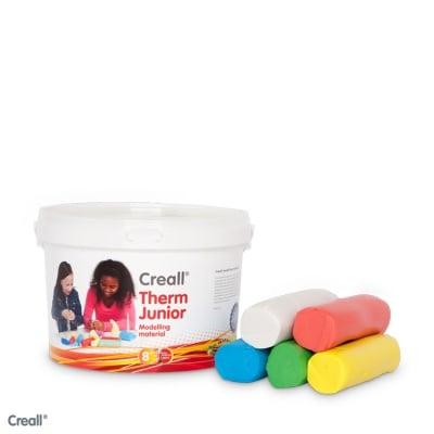 Комплект глина за моделиране CREALL Term, 2000g, 5 цвята