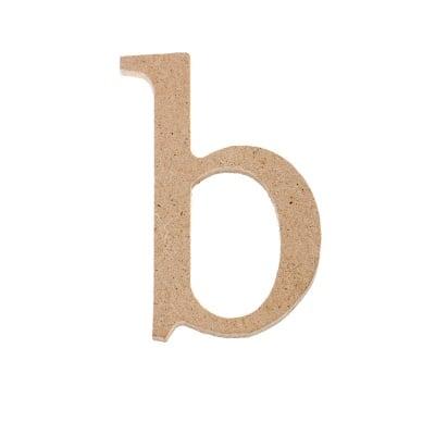"Декоративен символ RicoDesign, ""b"", MDF, 4,1x2,8 cm"
