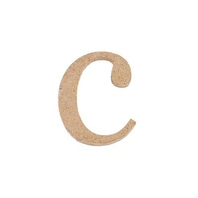 "Декоративен символ RicoDesign, ""c"", MDF, 2,8X2,3 cm"