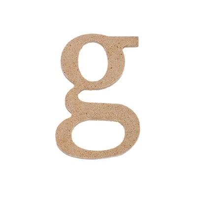 "Декоративен символ RicoDesign, ""g"", MDF, 4,1x2,7 cm"