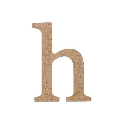 "Декоративен символ RicoDesign, ""h"", MDF, 4,1x3,0 cm"