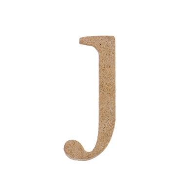 "Декоративен символ RicoDesign, ""j"", MDF, 4,0X1,6 cm"