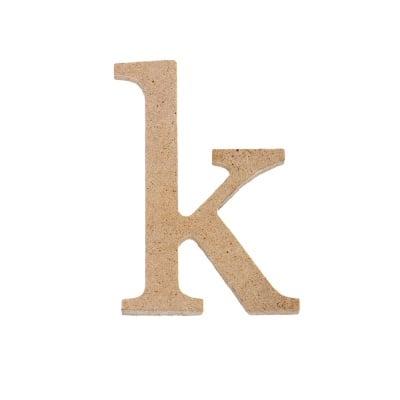 "Декоративен символ RicoDesign, ""k"", MDF, 4,1x2,9 cm"