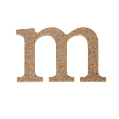 "Декоративен символ RicoDesign, ""m"", MDF, 2,8X4,6 cm"