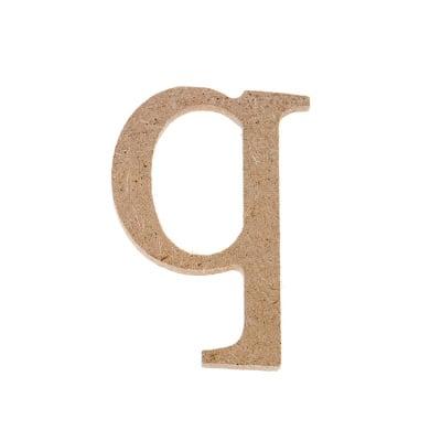 "Декоративен символ RicoDesign, ""q"", MDF, 4,1x2,9 cm"