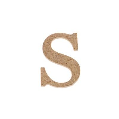 "Декоративен символ RicoDesign, ""s"", MDF, 2,8X2,0 cm"
