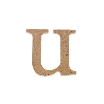 "Декоративен символ RicoDesign, ""u"", MDF, 2,8X3,0 cm"