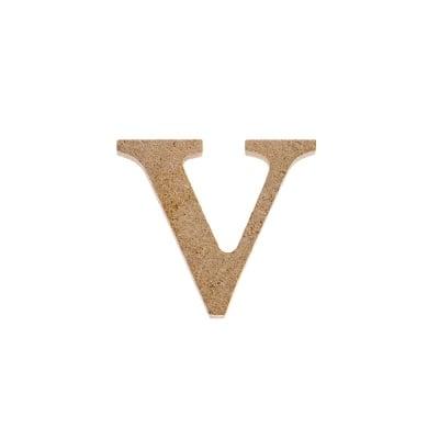 """Декоративен символ RicoDesign, """"v"""", MDF, 2,6X2,9 cm"""