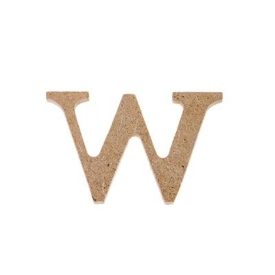 "Декоративен символ RicoDesign, ""w"", MDF, 2,6X4,1 cm"