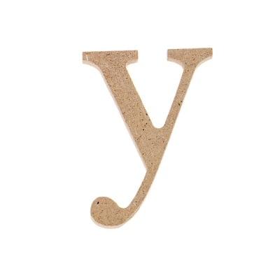 "Декоративен символ RicoDesign, ""y"", MDF, 4,1x3,0 cm"