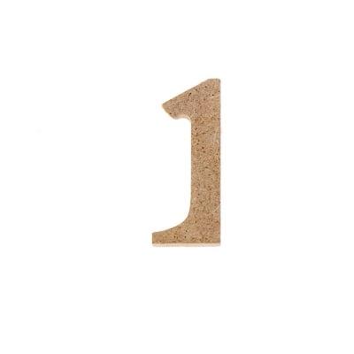 "Декоративен символ RicoDesign, ""1"", MDF, 4,1x1,8 cm"