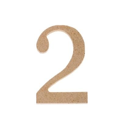 "Декоративен символ RicoDesign, ""2"", MDF, 4,1x2,6 cm"