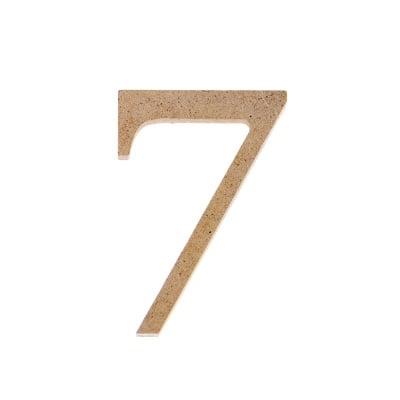 "Декоративен символ RicoDesign, ""7"", MDF, 4,1x2,8 cm"