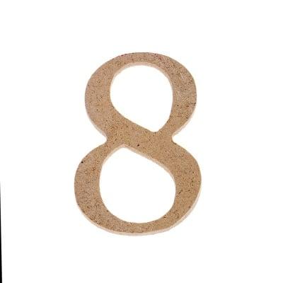 "Декоративен символ RicoDesign, ""8"", MDF, 4,1x2,8 cm"