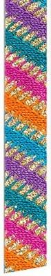 Лента декоративна UNIBAND, 12 mm, 10 m, многоцветна
