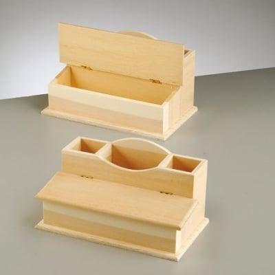 Органайзер за бюро, 23х14х13 cm, натурален