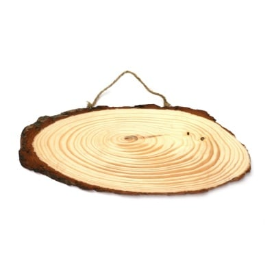 Дървена основа със закачалка, овал, 22 х 6 cm