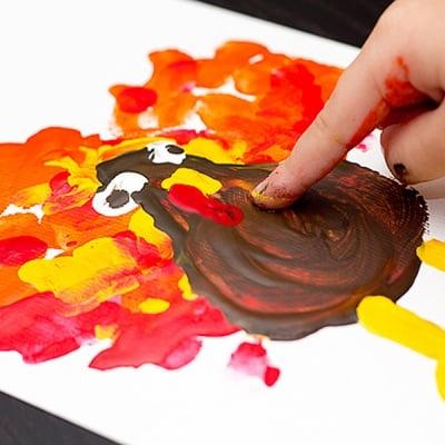Комплект боички за рисуване с ръце CREALL Mini, 6 х 500 ml
