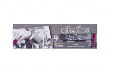 Комплект графити Cretacolor, Grafhite Pocket Set, 9 бр., метална кутия
