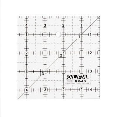 """Квадрат размерен, OLFA QR 4S, 4.5"""" x 4.5"""""""