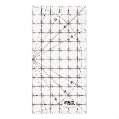"Правоъгълник размерен, OLFA QR 6x12, 6"" x 12"""