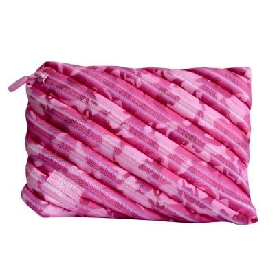 Jumbo несесер Camo, 23x2x15cm, розов камуфлаж