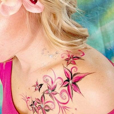 Писец за татуировки Tattoo Pen, връх четка, син