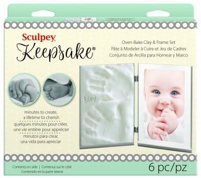 Детски комплект за отливка Keepsake Sculpey, бял