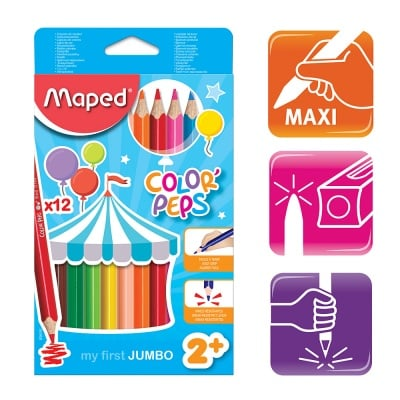 Комплект моливи Maped,COLOR PEPS EARLY AGE, 12 цвята