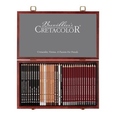 Комплект за графика SKETCHING & GRAPHITE в дървена кутия, 36 части