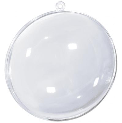 Медальон от пластмаса,  прозрачна - ф 90 mm