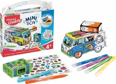 Креативен комплект MINI BOX създай и оцвети КАРАВАНА 10 части, 4+