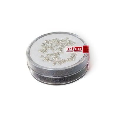 Мъниста за нанизване, 2 mm, 100 бр., сребриста