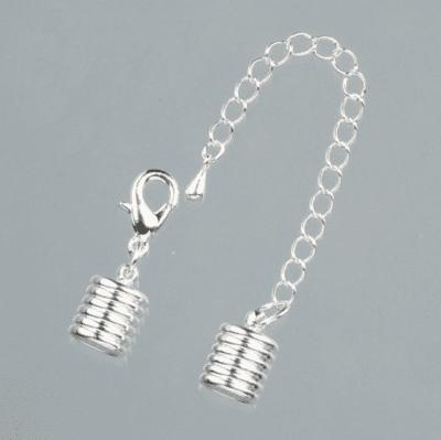 Крайни капачки, с верижка, ф 8 mm, 1 бр., сребристи
