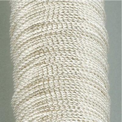 Медна бижутерска корда, ф 0.45 mm, 15 м, посребрена